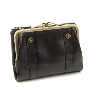 お金を引き寄せ守る黒い財布 Dakota リードクラシック がま口財布